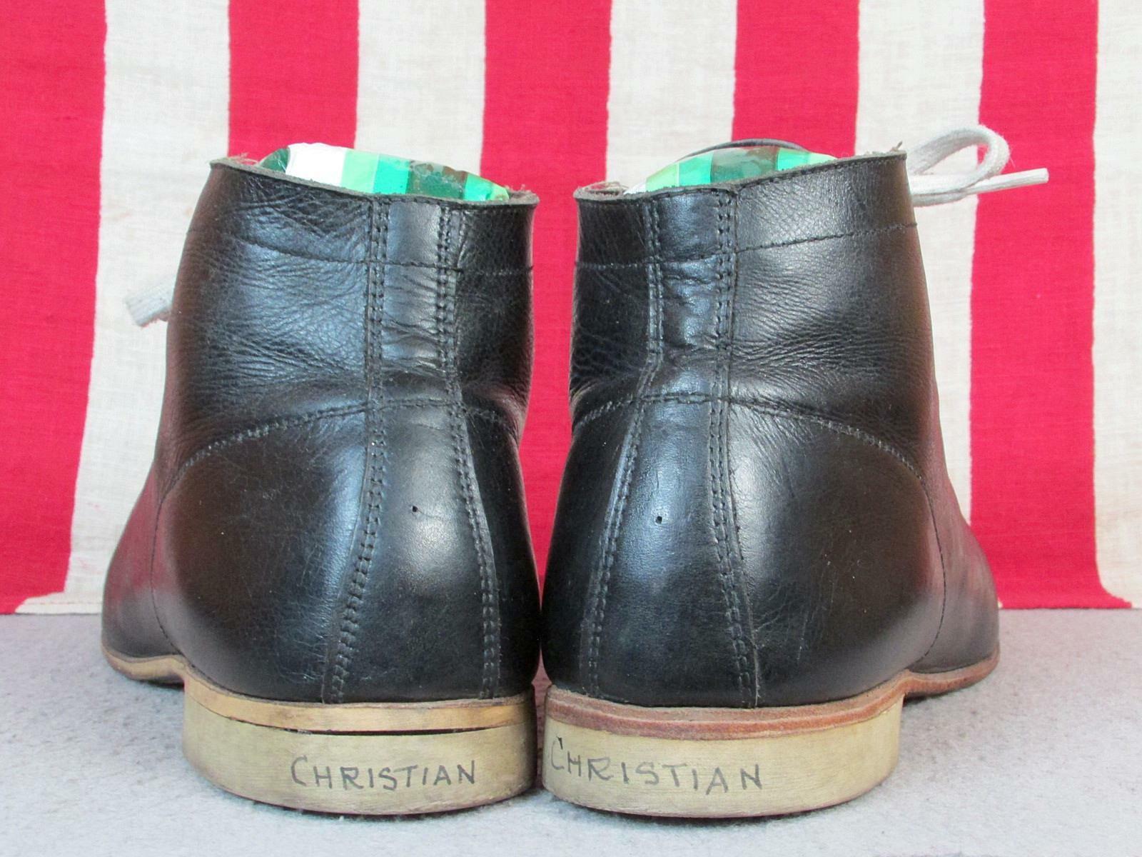 Vintage 1930s Black Leather High Top Athletic Sho… - image 7