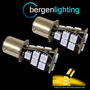 581-BAU15S-PY21W-XENON-ambra-18-LED-SMD-ANTERIORE-FRECCIA-LAMPADINE-fi201401