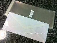 300 Pcs 4 5/16 X 9 3/4 Clear 10 Business Envelopes Cellophane Poly Bags