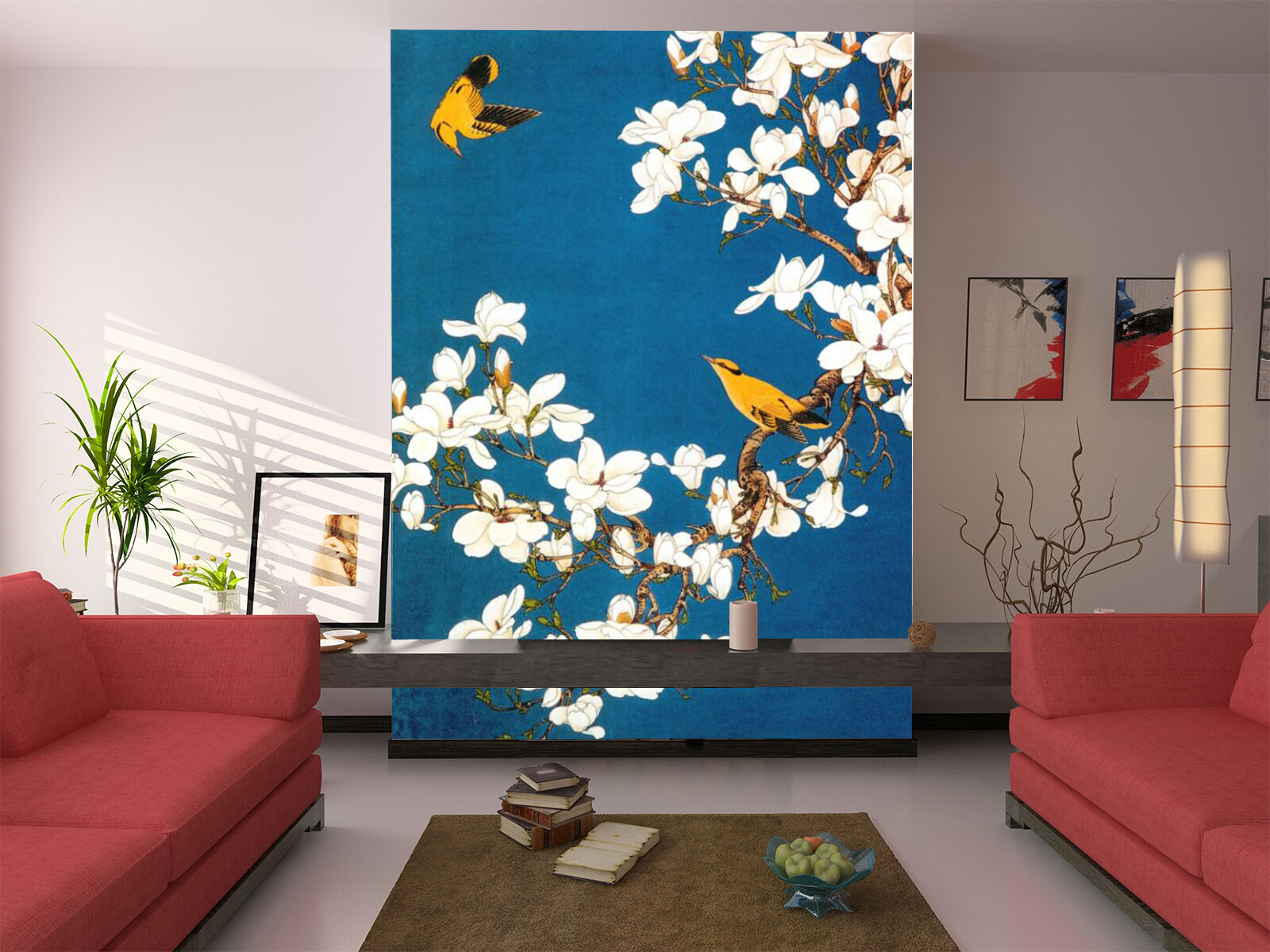 3D Flowers, birds 14 Wall Paper Wall Print Decal Wall Deco Indoor Wall Murals