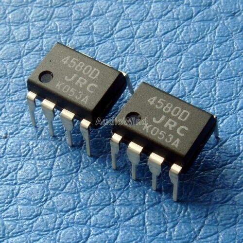 x4PCS Dual Opamp IC NJM4580D,NJM4580 JRC 4580D