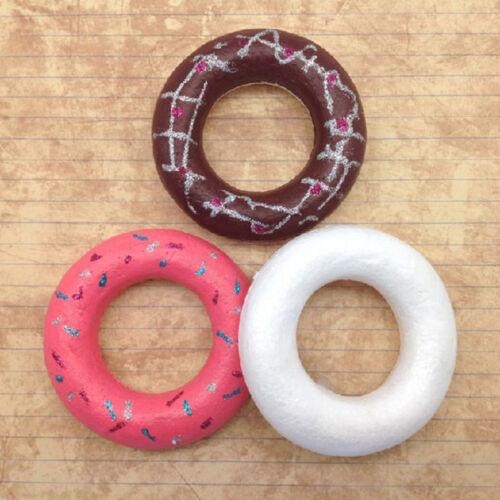 White Foam Rings for Creative Painting DIY Simulation Doughnuts Kids Practice