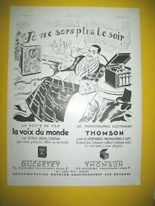 Publicite-de-Prensa-Thomson-Correos-Tsf-Gramofono-Ilustracion-Laborde-1933