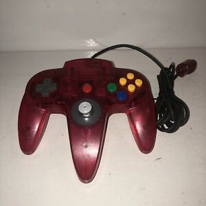 Nintendo-64-Watermelon-Red-Pink-Controller-Authentic-OEM-Funtastic-N64-TESTED