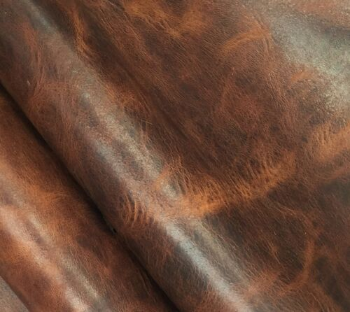 HORWEEN VEG TAN LEATHER 2.0-2.2 MM THICK 1 @ 260MM X 220MM BROWN NUT DERBY SIDES