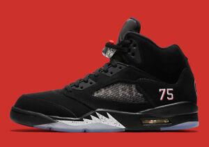 7dd9e50d248 Nike Air Jordan 5 V Retro Paris Saint-Germain Black Silver Size 15 ...