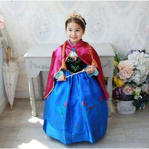 Girls Fairytale Princess Dress Kids Fancy Costume Dress Outfit 2-10 Years