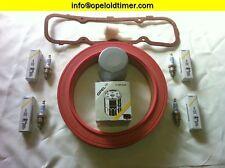Opel Kadett C Inspektionskit Ventildeckeldichtung Zündkerzen Ölfilter Filter