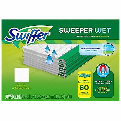 Swiffer Wet Refill Cloths 60 Count New!!