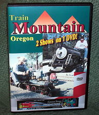 """LIVE STEAM DVD """"TRAIN MOUNTAIN OREGON"""" VOLUMES 1 & 2 COMBO PACK"""