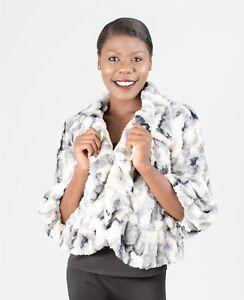 Chic-Ladies-Faux-Fur-Short-Jacket-Work-or-Play-Khaki-or-Gray-Radzoli-13067