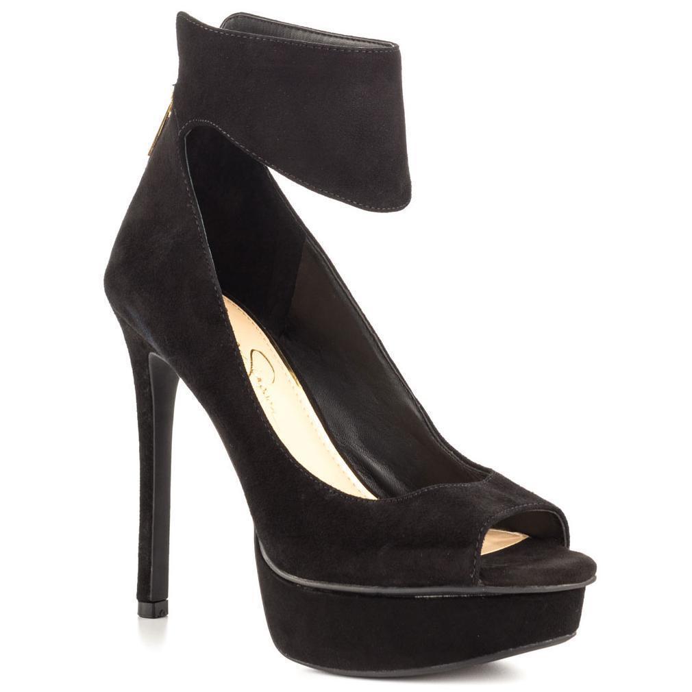 Jessica Simpson Crusherr Dress OT Heels (1402,1403,140<wbr/>4) Black Suede Size 9.5M