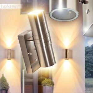 LED Up Down Strahler Veranda Terrassen Garten Lampe Edelstahl Außen Wand Leuchte
