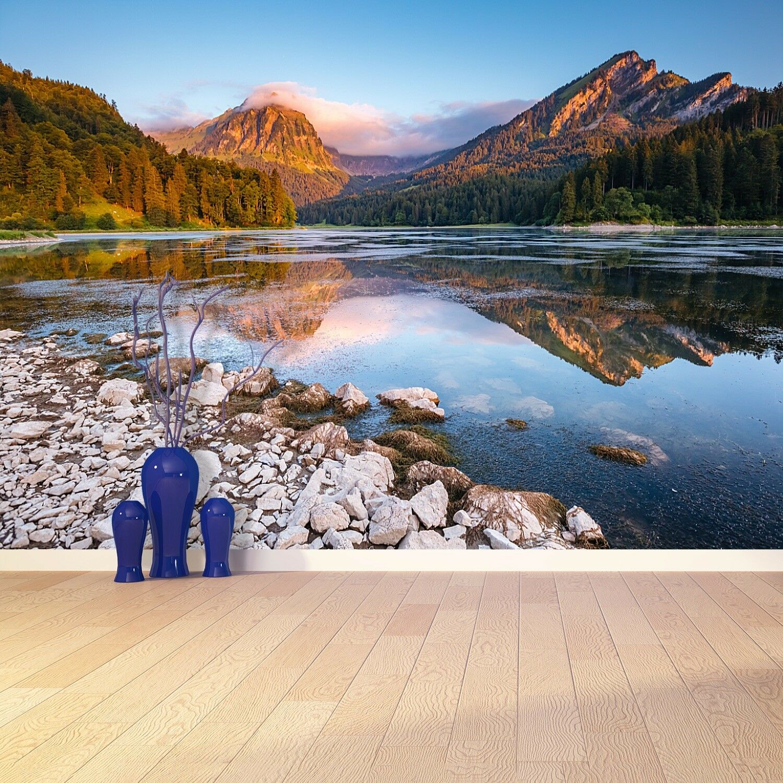 Vlies-Fototapete Fototapeten Tapete aus Vlies Poster Foto Schweizer Alpen