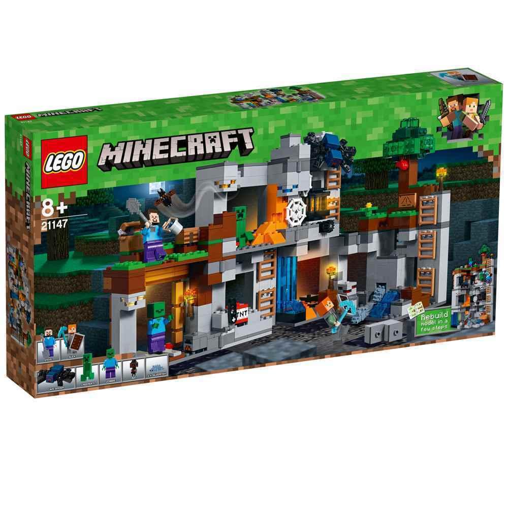 LEGO® Minecraft™ - 21147 Abenteuer in den Felsen + NEU & OVP + passt zu 21118