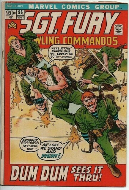 Marvel Comics Sgt. Fury and his Howling Commandos #96 GD March 1972