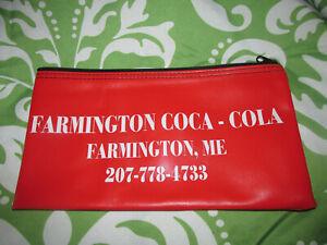Rare Closing Farmington Maine Coca Cola Coke Soda Bottle Company Money Bag  Sack