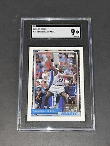 1992 Topps #362 Shaquille O'Neal Centered SGC 9 Newly Graded RC Rookie