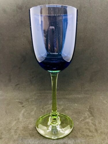 """Block """"Festival Blue Green"""" Wine Glass 8.25"""" Tall  6-8oz."""