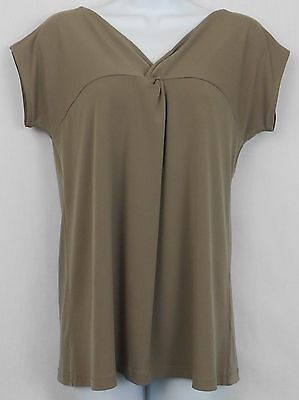 New York and Company Top Size S Brown Polyester Sleeveless Stretch Shirt Women
