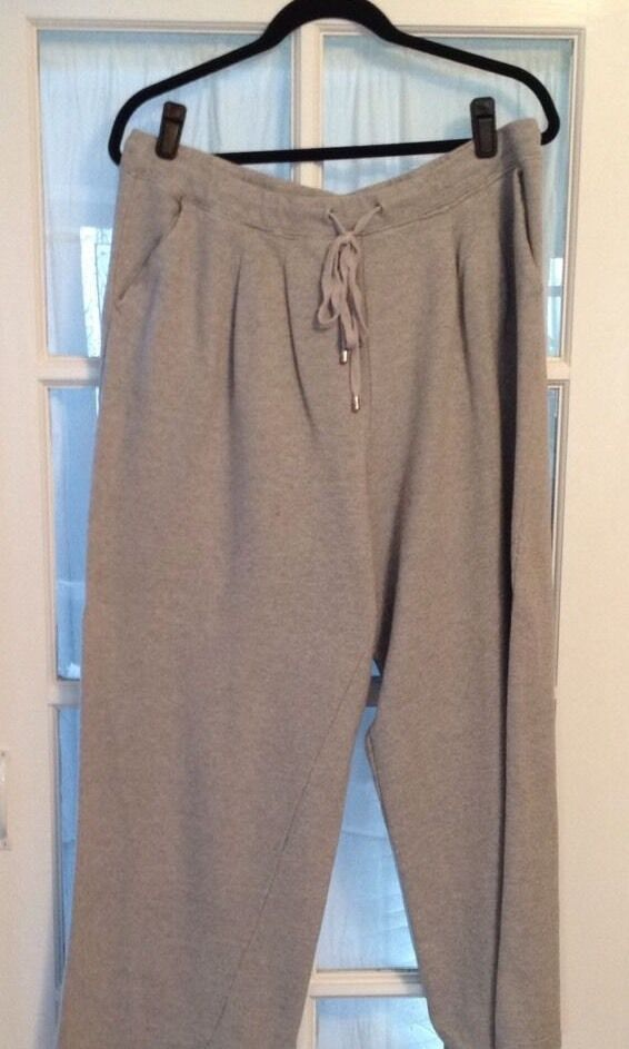 Issac Mizrahi Sweat Pants Grey With Pleated Front New In Bag Size 3X