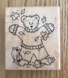 Pre-Owned DOTSClose to My Heart Beary Sunny Summer Rubber Stamp Q86