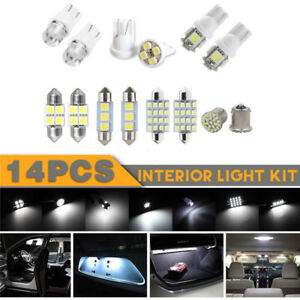 14Pcs-White-LED-Interior-Bulbs-Kit-For-T10-36mm-Map-Dome-License-Plate-Lights