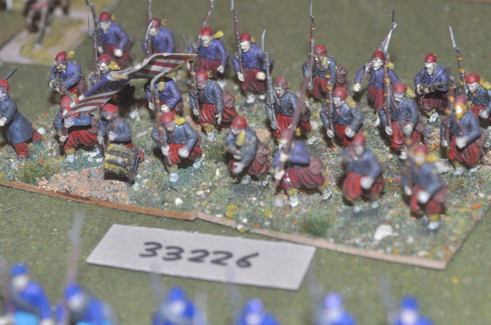 25mm ACW   union - zouaves (plastic) 24 figures - inf (33226)