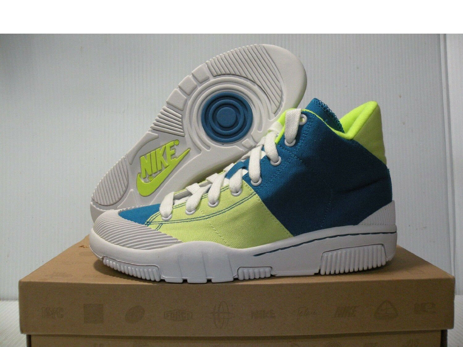 NIKE OUTBREAK HIGH SNEAKERS WOMEN SHOES BLUE/GREEN 318635-411 SIZE 10 NEW