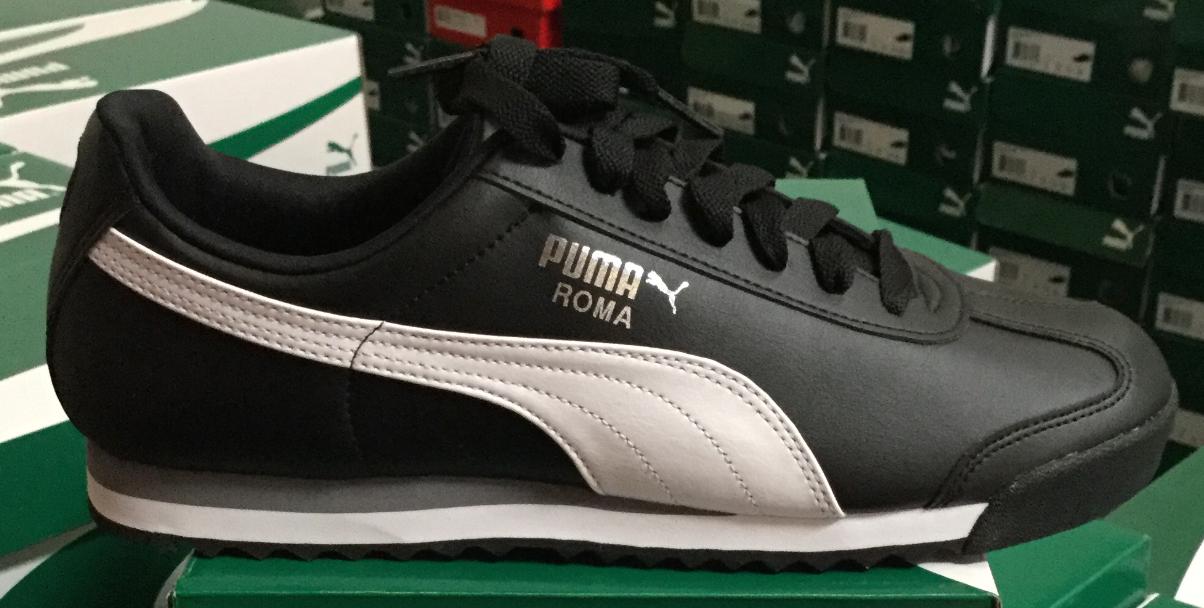 PUMA ROMA BASIC Noir/Blanc Homme Running Casual Chaussures 353572 11 Sz7-12 H L