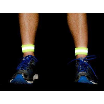 2 Bike Bicycle Reflective Safety Pant Band Leg//Arm Strap Cycling Reflective Tape
