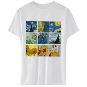 81881297 Image is loading Womens-Van-Gogh-Oil-Painting-Starry-Night-Sunflowers-