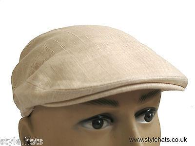 Summer Hat Navy Blue Classic Cotton Linen Flat Cap Light Weight G/&H Hats n Caps