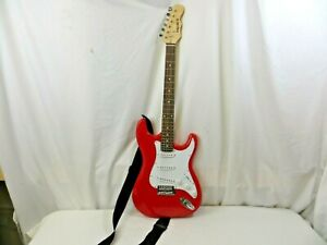 """Mahar Vintage Style """"ST"""" Electric Guitar-3 Single Coil Pickups-Red Sparkle"""