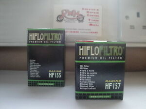 KTM-400-450-520-525-SX-1st-2nd-HIFLOFILTRO-OIL-FILTERS-HF155-HF157