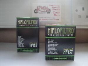KTM-400-450-520-525-SX-1st-2nd-HIFLOFILTRO-OIL-FILTERS-HF155-HF157