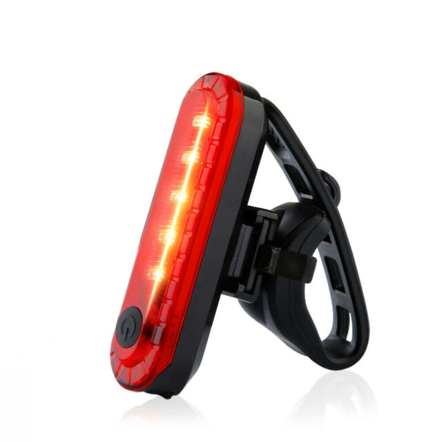 XECCON 10 Lumen Mini USB Red LED Bike Light Rear Light with Strobe Only 1.6oz