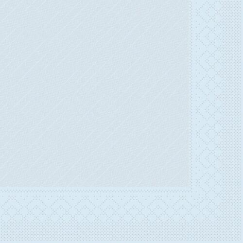 50 Stück 40 x 40 cm 4-lagig Serviette Hellblau aus Tissue Deluxe®
