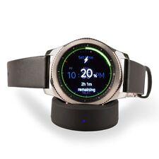 Nightstand Docking Station Silikon für Samsung Gear S3 S2 Smartwatch Uhr Schwarz