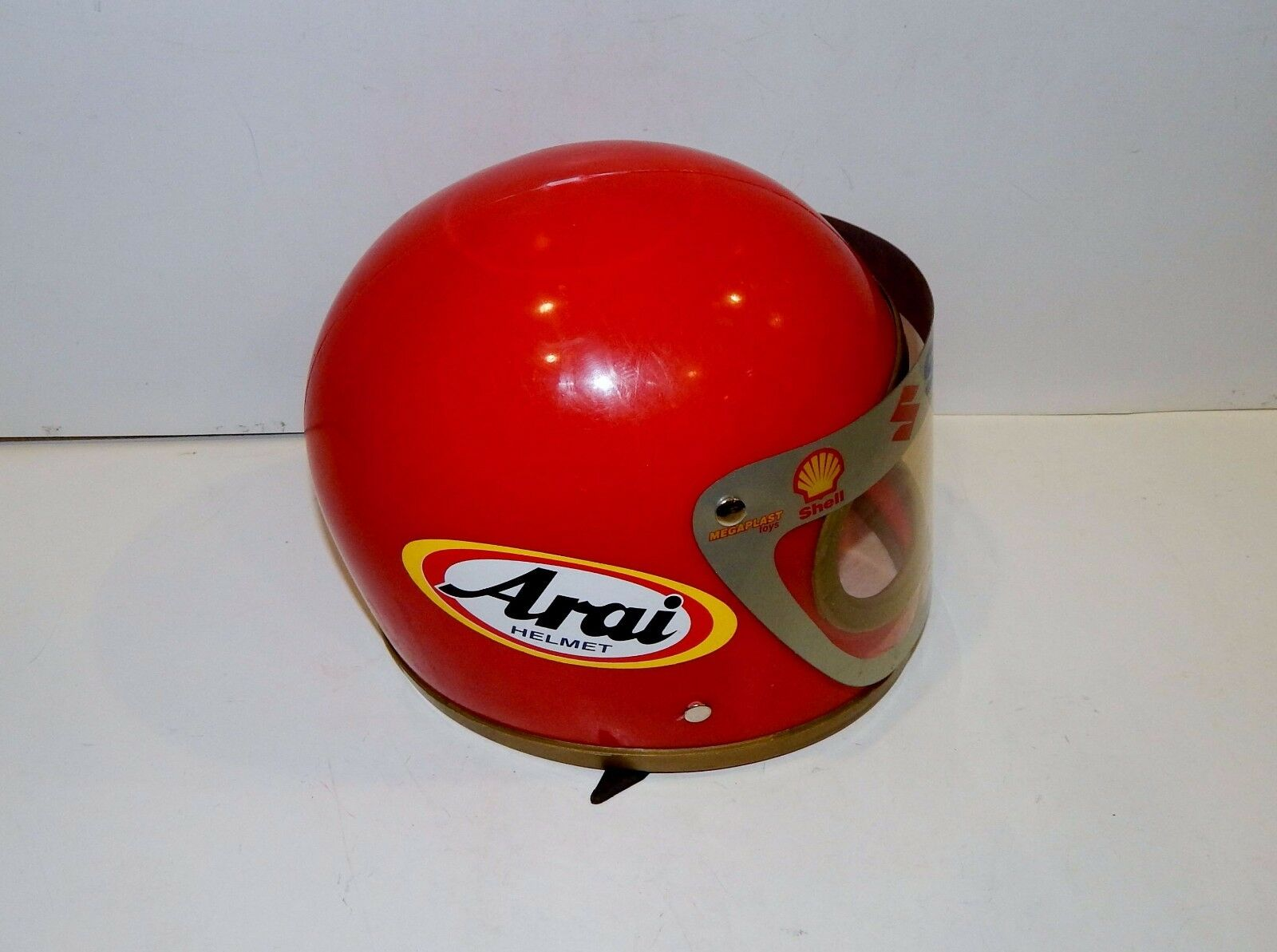 VTG GREEK PLASTIC MOTORCYCLE BIKE ARAI SUZUKI SHELL MOTOCROSS KIDS HELMET NOS 7