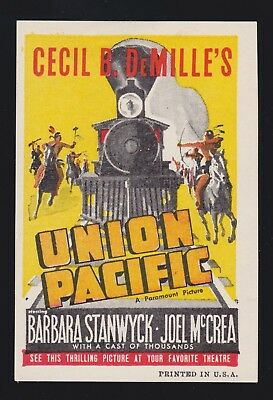Union Pacific Barbara Stanwyck  vintage movie poster print