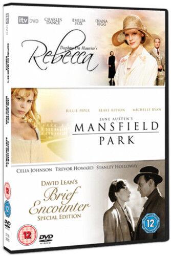 1 of 1 - Rebecca/Mansfield Park/Brief Encounter DVD (2008) Emilia Fox ***NEW***