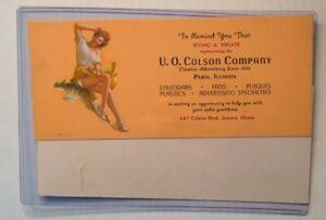 Blotters set of two U.O. Colson Company Paris Illinois and Aurora advertising