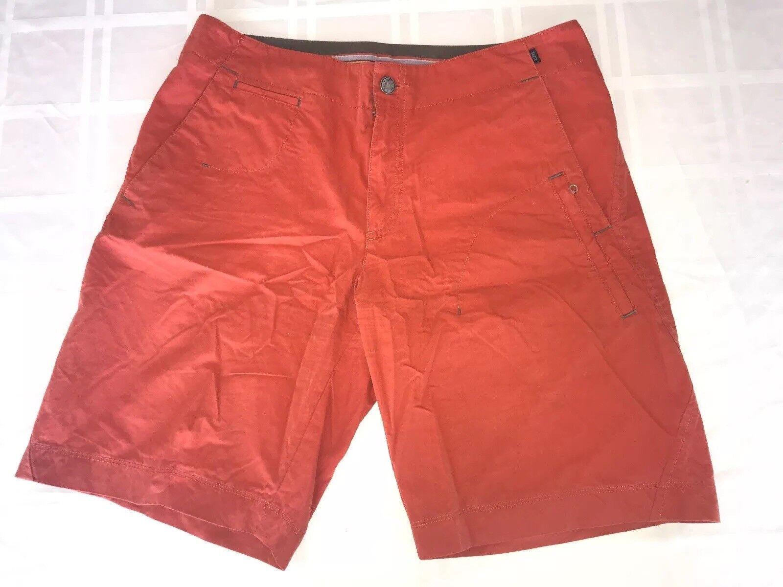 REI Hiking Casual Shorts Cotton Nylon Blend Women's Size 10 orange TS8
