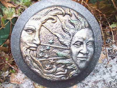 gostatue eclipse plastic mold concrete sun moon  mould plaster mold