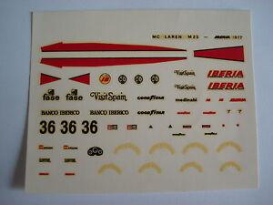 F1-DECAL-1-43-MC-LAREN-M23-IBERIA-1977-DRIVER-VILLOTA