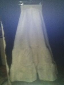 3-VINTAGE-Tier-Double-Layer-Satin-Tulle-Wedding-Dress-Gathered-Underskirt-Slip-S