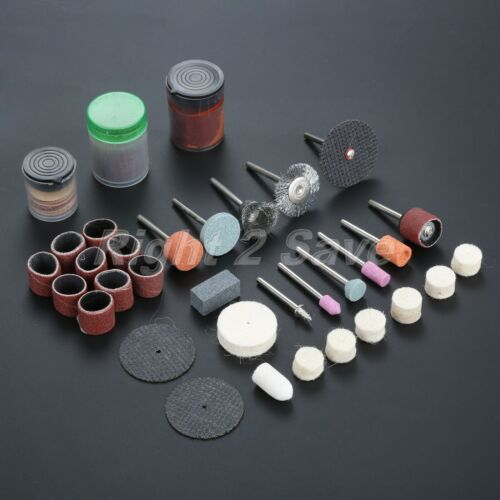 105Pcs Assorted Mini Drill Bit Set Suit Polishing Grinder Rotary Tool Fit Dremel