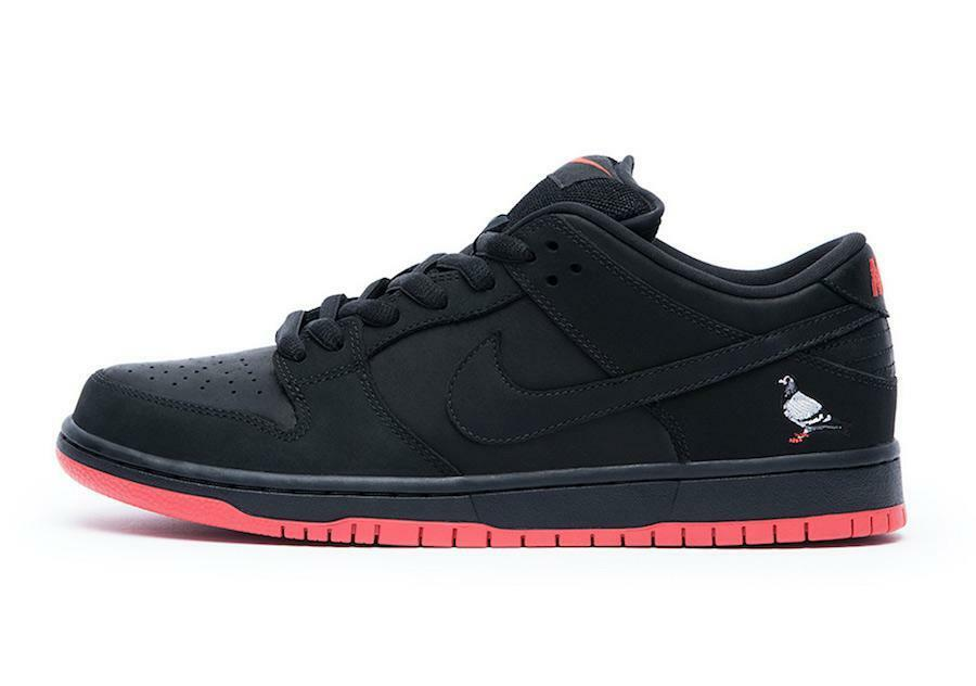 Mens Nike SB Dunk Low TRD QS Pigeon Jeff Staple Black Sienna 883232-008