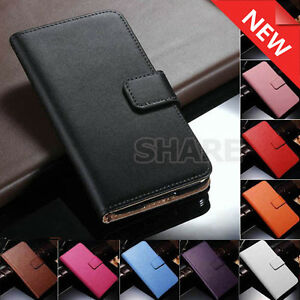 Leather-Case-Genuine-Cow-Leather-Wallet-Plain-Cover-For-Samsung-Galaxy-Note-3